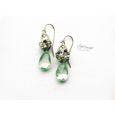 Green Pyrite Earrings
