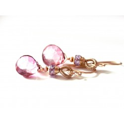 Fuschia Quartz Earrings