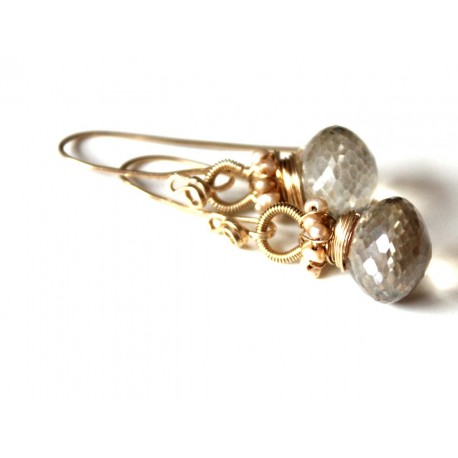 Champagne Quartz Earrings