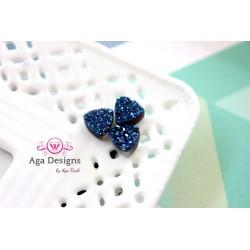 Triangle Druzy Stones with Hole Blue