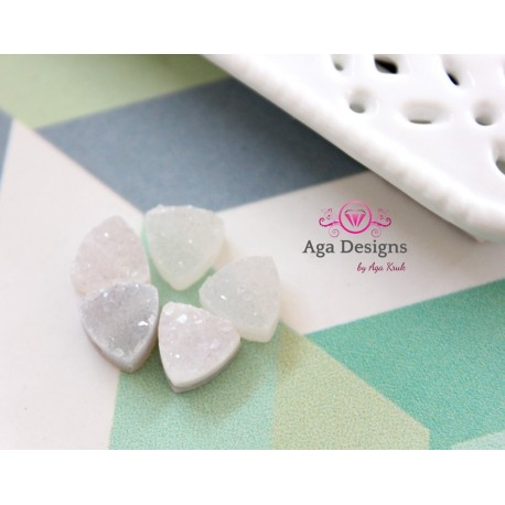 Triangle Druzy Stones with Hole Natural color