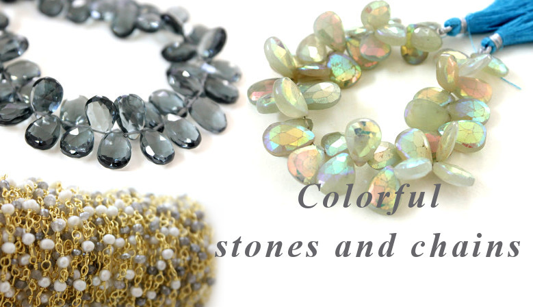 Colorful Stones and Chains